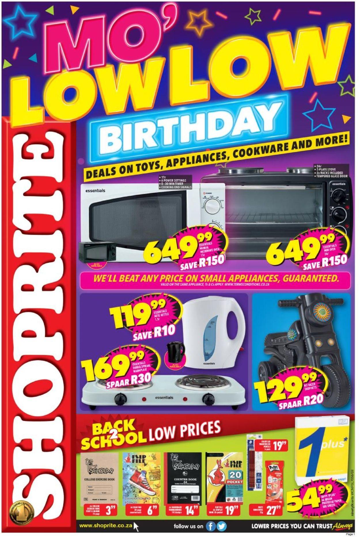 Shoprite Catalogue - 2019/07/22-2019/08/04