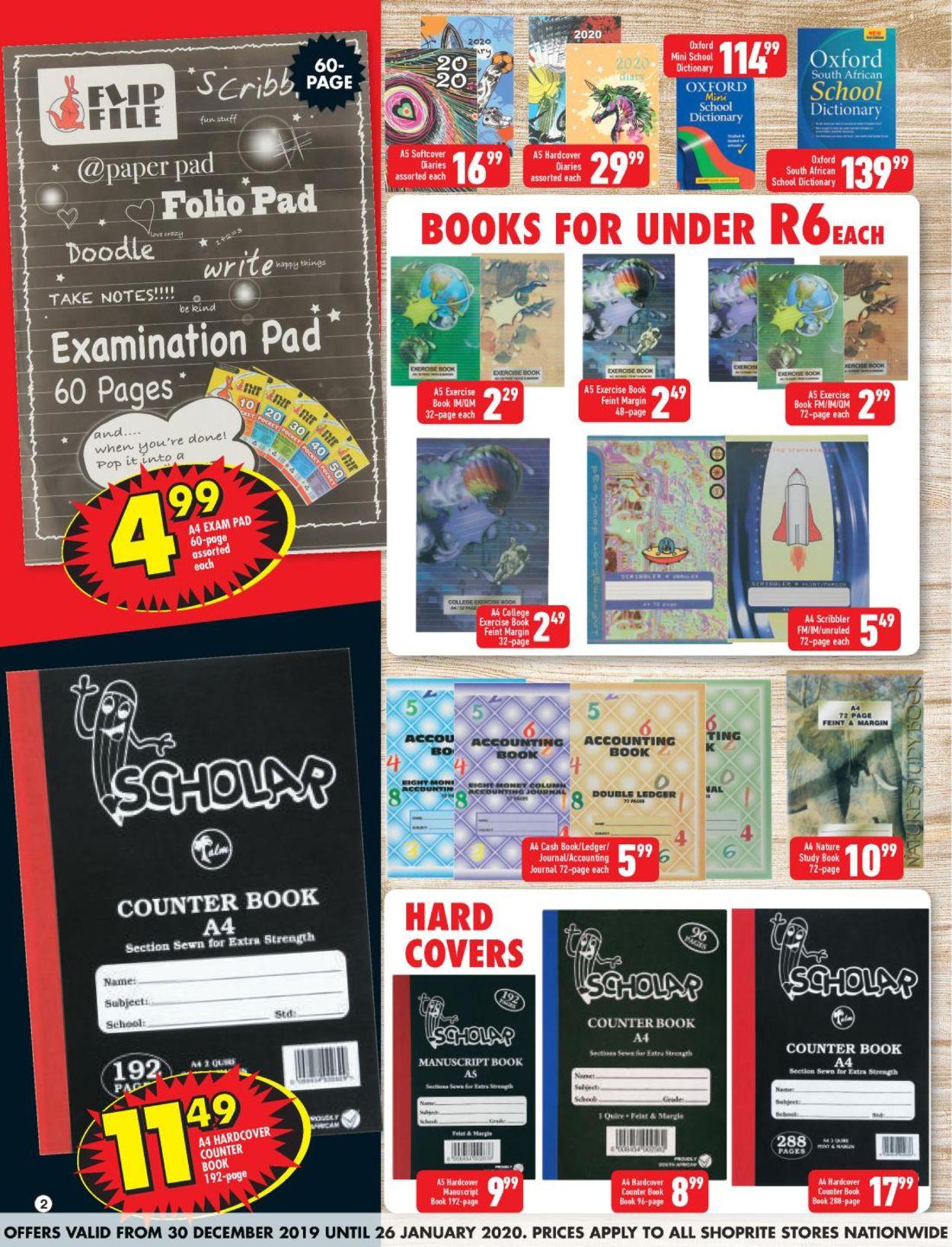 Shoprite Back 2 School Catalogue - 2019/12/30-2020/01/26 (Page 2)
