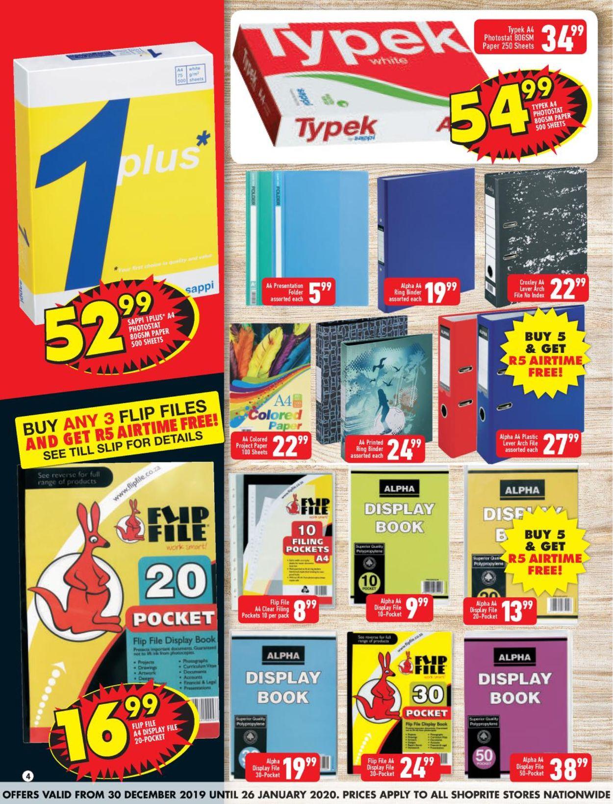 Shoprite Back 2 School Catalogue - 2019/12/30-2020/01/26 (Page 4)