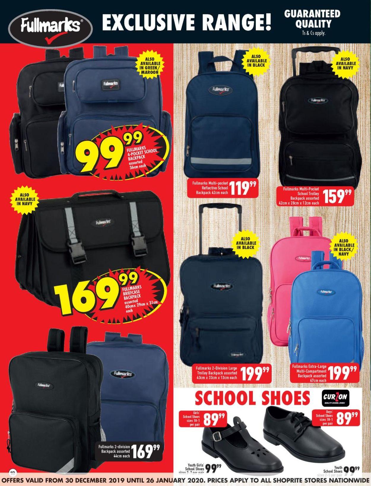 Shoprite Back 2 School Catalogue - 2019/12/30-2020/01/26 (Page 18)