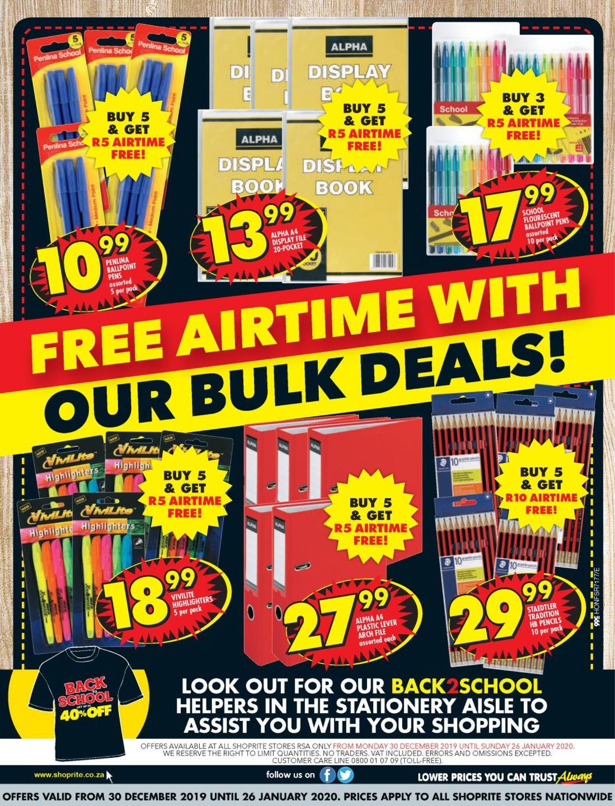 Shoprite Back 2 School Catalogue - 2019/12/30-2020/01/26 (Page 20)