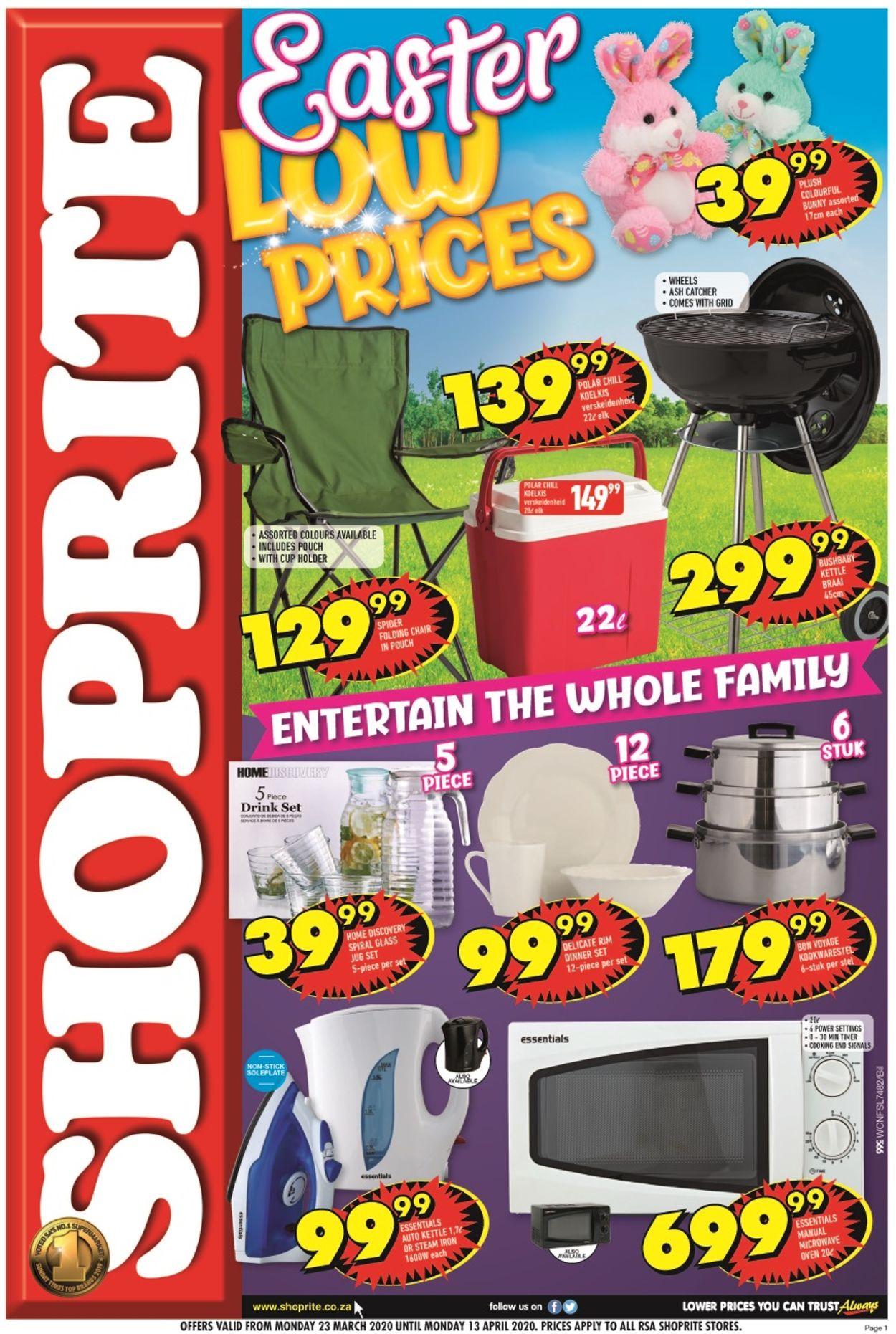 Shoprite Catalogue - 2020/03/23-2020/04/13