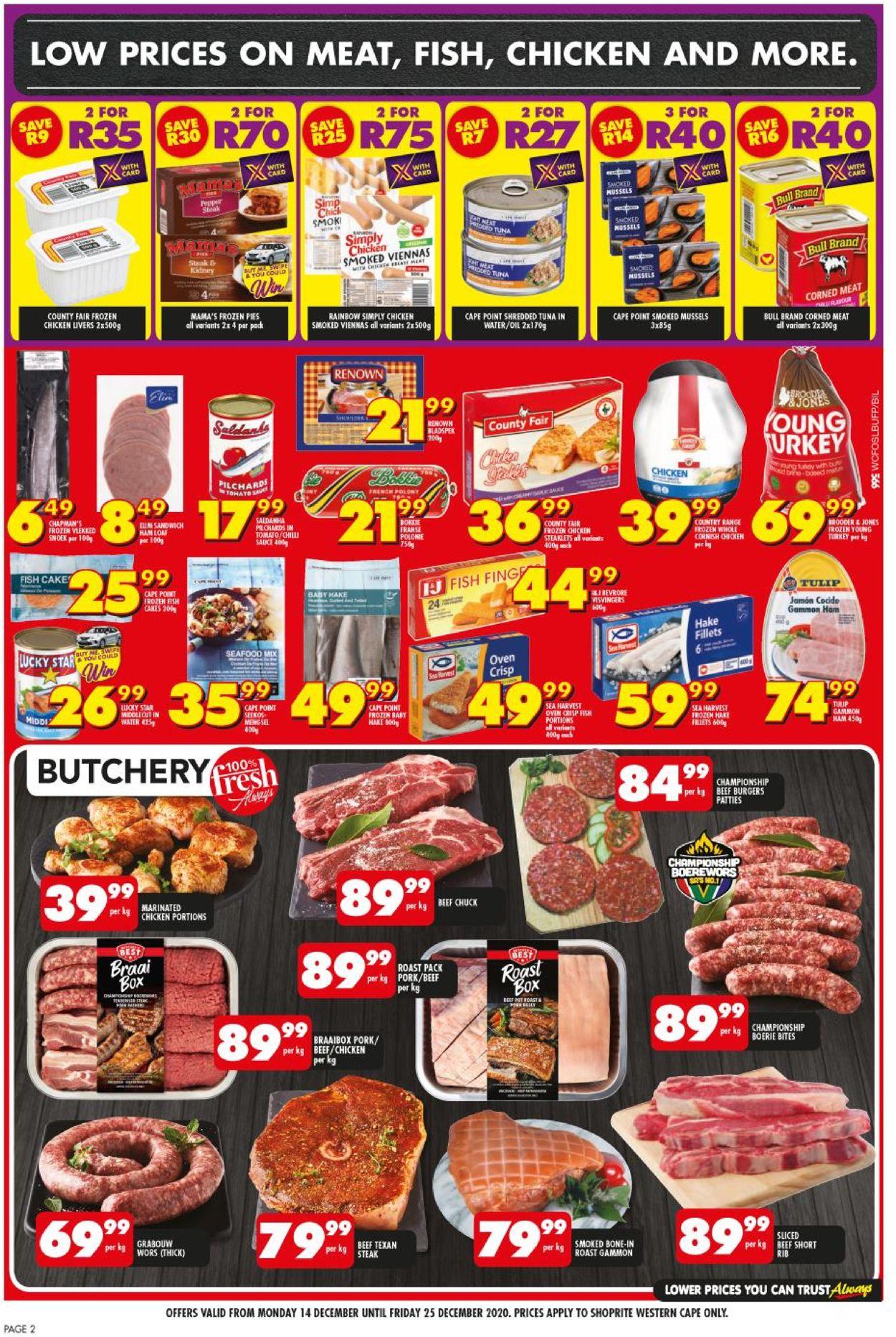 Shoprite Christmas Savings 2020 Catalogue - 2020/12/14-2020/12/25 (Page 2)