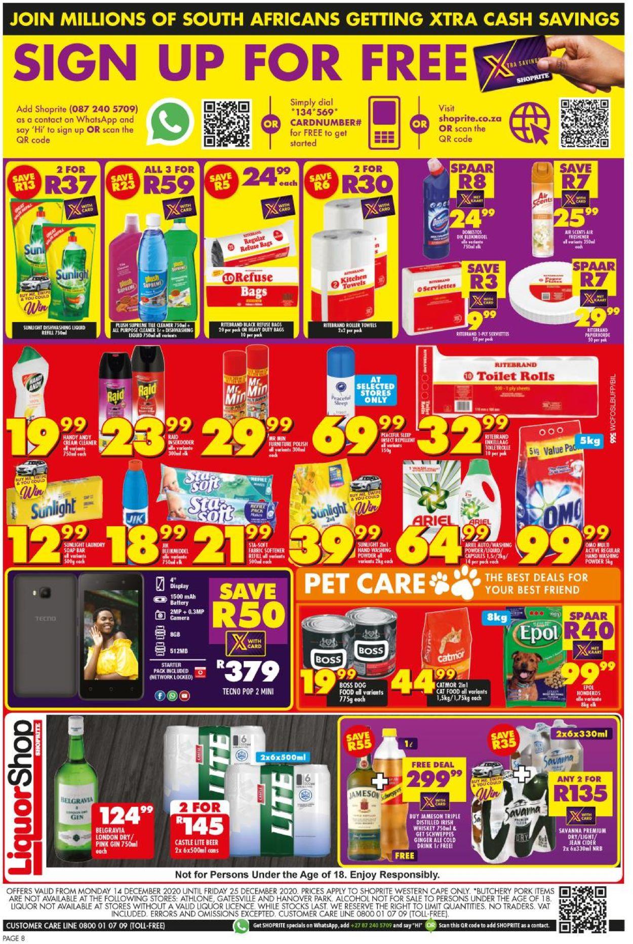Shoprite Christmas Savings 2020 Catalogue - 2020/12/14-2020/12/25 (Page 7)