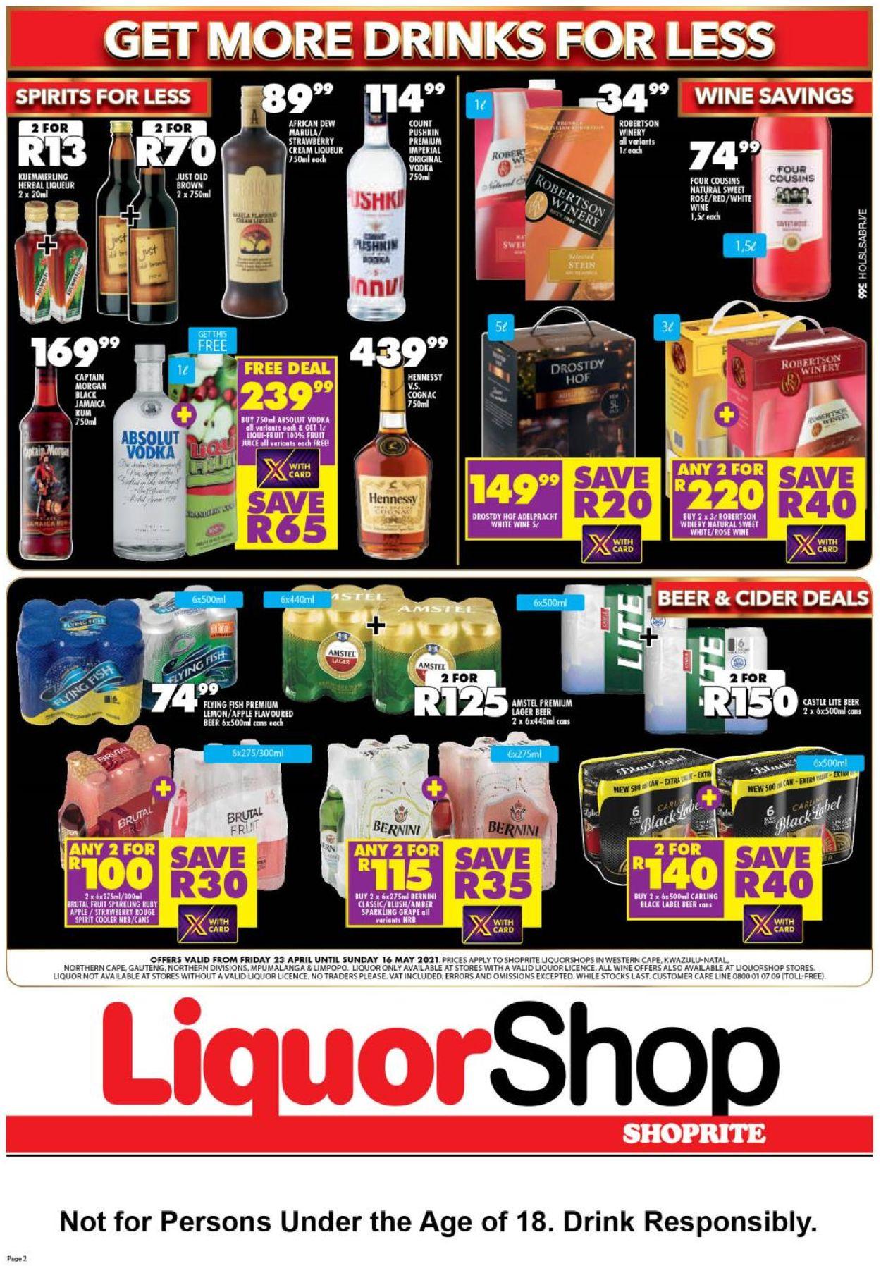 Shoprite Catalogue - 2021/04/23-2021/05/16 (Page 2)