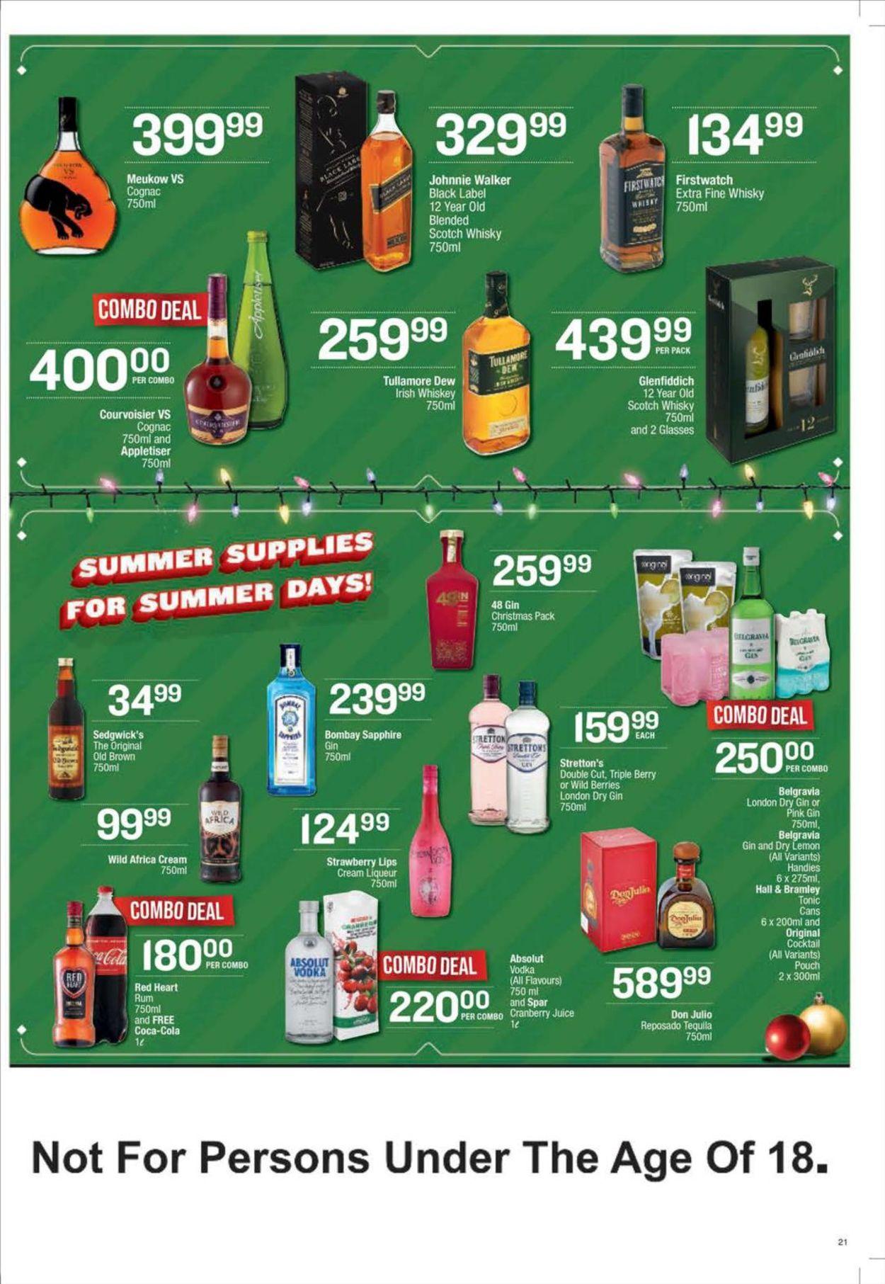 SPAR Store Specials 2020 Catalogue - 2020/12/15-2020/12/27 (Page 21)