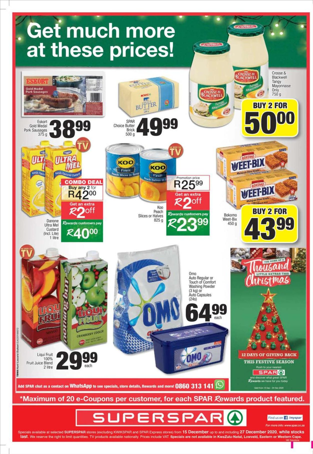 SPAR Store Specials 2020 Catalogue - 2020/12/15-2020/12/27 (Page 24)