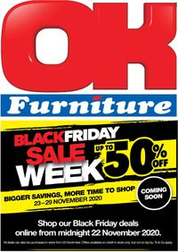 OK Furniture Catalogue Black Friday 2020